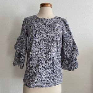 J. Crew Mercantile | Floral Bell Sleeve Tiered Top